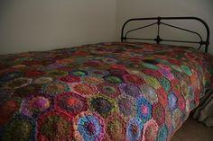 Inspiration! Noro Hexagon crochet blanket.