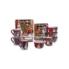 Christmas-Dining-Set-Kitchen-Dinnerware-Dinner-Dessert-Plates-Bowls-Mugs-New
