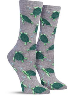 Have you ever been swimming with sea turtles? No? Take the next best thing and rock these colorful animal socks in any of our three cool colors.