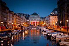 Trieste by Night, #Trieste, #Italy