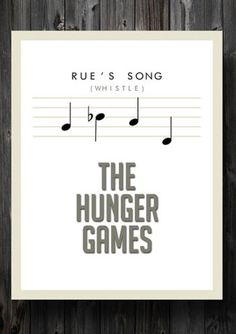 Rue's Song poster #HungerGames