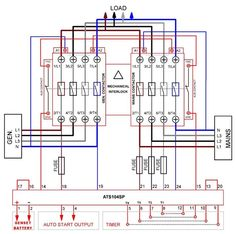 diesel generator control panel wiring diagram engine connectionsautomatic transferred switch (ats) circuit diagram electrical engineering blog
