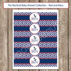 Hey, I found this really awesome Etsy listing at https://www.etsy.com/listing/155917361/nautical-baby-shower-water-bottle-labels