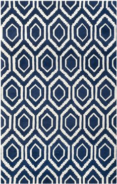 Chatham Dark Blue / Ivory Rug