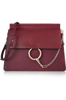 Chloé Faye medium textured-leather shoulder bag | NET-A-PORTER