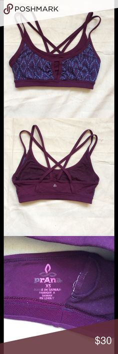 Soleil Bra Chakara© performance fabric Double layer design at front Front cut out Multi-strap detail Lined at front body Fitted Solid: 93 Supplex© Nylon  / 7 Lycra© Spandex Heathers: 48 Nylon / 45 Polyester / 7 Spandex Prana Intimates & Sleepwear Bras