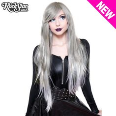 RockStar Wigs Store Ombre Alexa Collection - Pewter Silver Fade - Rockstarwigs