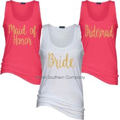Check out this item in my Etsy shop https://www.etsy.com/listing/263472058/6-bride-and-bridesmaids-essential-tank