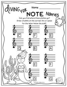 Note name worksheets