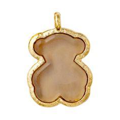 18kt yellow gold and fume Murano crystal TOUS Duna pendant.  TOUS WASHINGTON DC