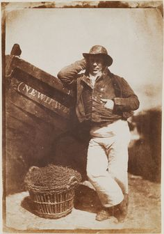 "Octavius Hill and Robert Adamson (Scottish, 19th century), ""James Linton. Newhaven Fisherman,"" 1840–50. Photograph, salt print from paper negative."