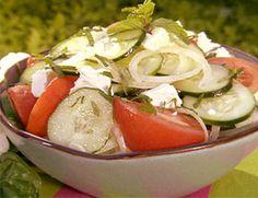 Salada de pepino e azeitonas