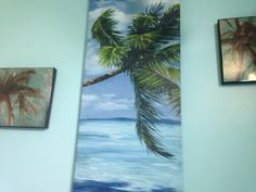 Paintings of palm trees.