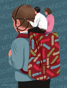 parental control editorial illustration by John Holcroft