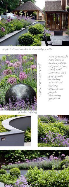 Granite ball water feature greencube garden and landscape design