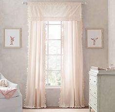 Vintage-Washed Ruffle Drapery Collection   Restoration Hardware Baby & Child