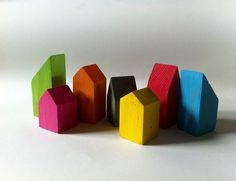 colorful wooden homes