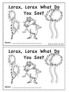 Seuss Emergent Reader - Lorax, Lorax, What Do You See?