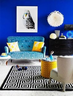 50 Yellow Blue Rooms To Inspire
