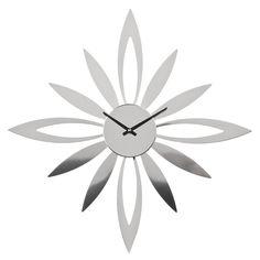 Wall Clock, Silver Starburst
