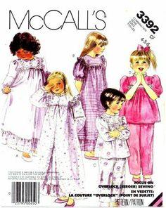 McCall s 3392 Sewing Pattern Girls Robe Nightgown Pajamas Size 4 - 5 - 6  McCall s cbb07ea34