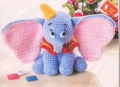 Crochet Doll amigurumi Pattern - Dumbo