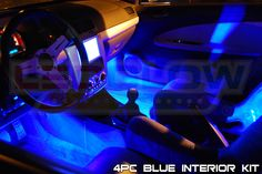 LEDGlow 4pc. Blue LED Car Interior Lights