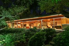 Located in Encino, California The Milton Goldman house designed by architect Richard Neutra in 1951. Quintessentially Neutra with the use of large, floor to ceiling glass windows that blur the lines between interior and exterior spaces. It was most recently the home of noted TV writer Steven Bochco.