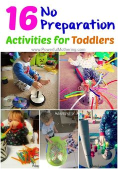 These activities are perfect if you are cooking tea, feeding a baby, feeling ill yourself or simply want to dry your hair without having a toddler attached to you. These toddler activities are low mess, quick to set up whilst promoting independent play. Toddler Play, Toddler Learning, Baby Play, Toddler Preschool, Toddler Crafts, Toddler Games, Learning Games, Infant Toddler, Games For Toddlers