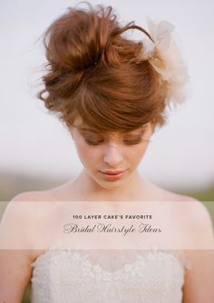 14 pretty bridal hairstyle ideas from @100 Layer Cake