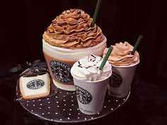 starbucks theme cake