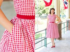 Mode de Lis: · A Gingham Dress for Kathryn - Simplicity 1459