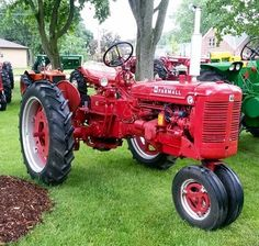 Farmall 350 with cultivator. FARMALL son Tractors