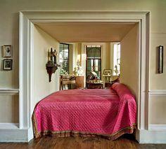 Thomas Jefferson's bed, Monticello, Virginia