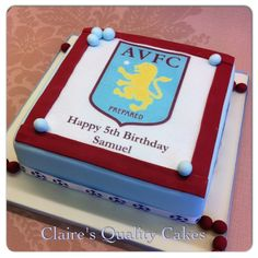 Aston Villa Birthday Cake, Sean 30?