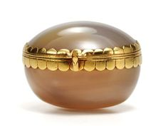 Early 18th C. Agate & Gold Box from thethreegraces on Ruby Lane