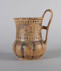 Greek, Attic, Late Geometric Ib One-handled tankard, ca. 750 – 735 B.C.