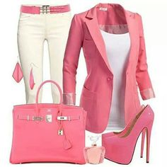Pink office wear