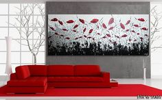 SALE Painting Large Painting Poppies Oversized by acrylkreativ