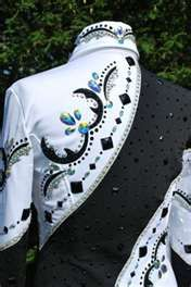 Image detail for -... ELEGANT Black & White Showmanship Pleasure Jacket Loaded with Crystals