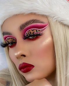 Fx Makeup, Makeup Inspo, Makeup Ideas, Dramatic Eyeshadow, Leopard Eyes, Cute Makeup Looks, Valentine Special, Plastic Surgery, Body Painting