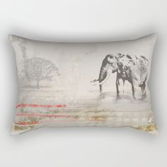 Our Rectangular Pillows are basically oversized Throw Pillows that provide a different look - suitable for the bed or couch. They're comfy enough to sleep on, and a great canvas for art.      - Available in four sizes   - 100% spun polyester poplin fabric   - Double-sided print    - Includes faux down pillow insert   - Individually cut and sewn by hand   #homedecor  #cushions  #pillows  #homeware #elephant  #africanart