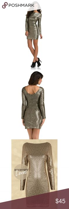 Holiday Bronze Sequin Dress New with tags. Excellent condition! Kardashian Kollection Dresses