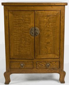 Antique Asian Furniture: Burl Wood Cabinet from Gansu Province, China Asian Furniture, Chinese Furniture, Chinese Cabinet, Living In China, Vanity Cabinet, Wood Cabinets, Asian Style, Chester, Wicker