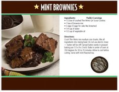 Thin Mint Brownies: get delicious recipes using Girl Scout Cookies! GSNorCal's Cookie Sale is Feb. 9-March 16, 2014. Find yours at www.ilovecookies.org
