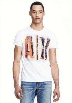 Camiseta Armani Exchange Men's AX Painted Logo Tee White E6X639 #Camiseta #Armani Exchange