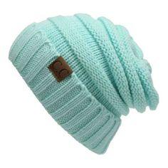 a71682aee86 Women or Men Winter Knitted Wool Cap Unisex Folds Casual CC labeling Beanies  Hat Solid Color Hip-Hop Skullies Beanie Hat Item Type  Skullies    BeaniesDepa