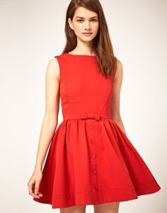 ASOS Skater Dress with Bow Front; Eep! How cute is this!!