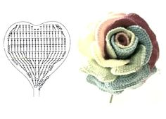 Crochet roses with a lot of heart