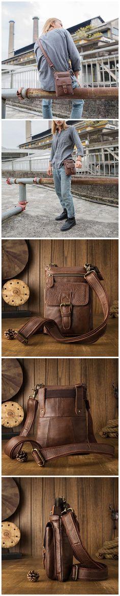 Handmade Men Messenger Bag Casual Shoulder Bag Waist Bag JD279 Photography Bags, Messenger Bag Men, Mans World, Casual Bags, Canvas Leather, Briefcase, Travel Bags, Leather Men, Shoulder Bag